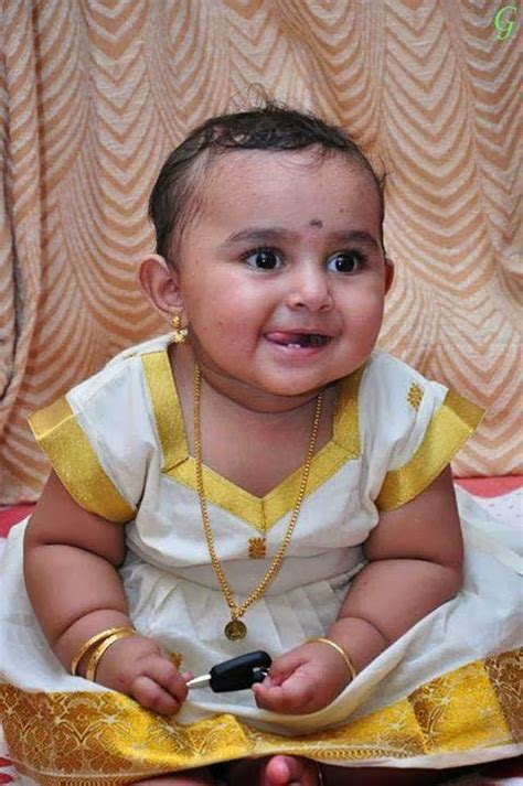 baby picture kerala traditional dress kids  indian