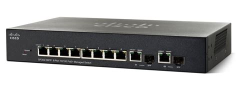 cisco sf302 08p 8 port 10 100 poe managed switch with gigabit uplinks cisco
