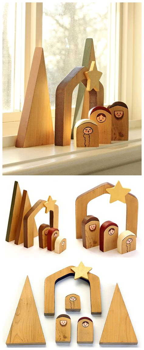 simple wooden nativity scene unique gifts scene and