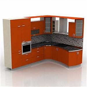 kitchen furniture 3d models kitchen red n230411 3d With kitchen furniture 3ds max free