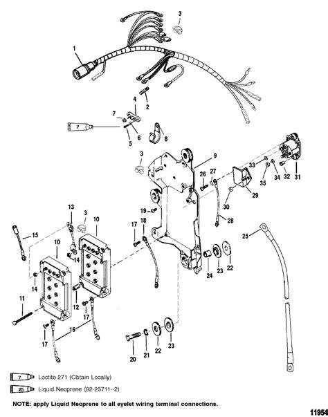 Mercury Solenoid Wiring wiring harness starter solenoid for mariner mercury 135