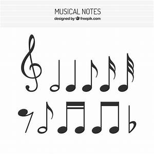 Flat set of musical notes Vector | Free Download