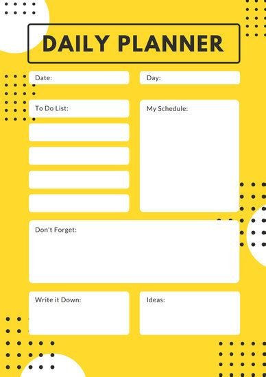 customize  daily planner templates  canva