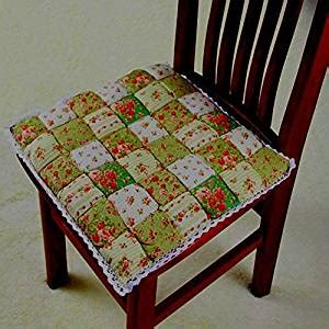 green floral kitchen dining chair cushions
