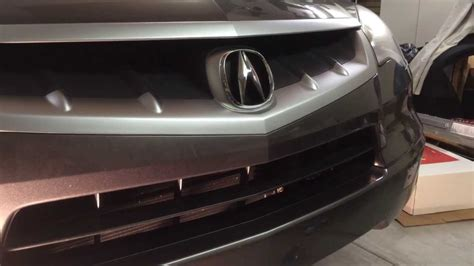 acura rdx front license plate installation  bumper