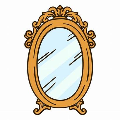 Mirror Illustration Wall Round Ornate Transparent Svg