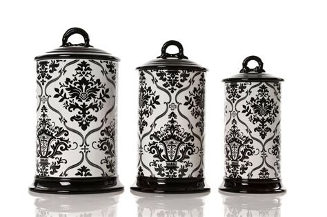 Kitchen Canisters Black by Black And White Kitchen Canisters Switchsecuritycompanies