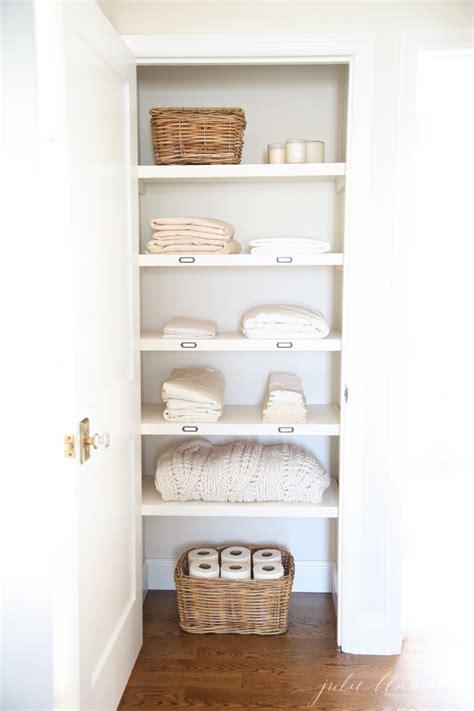 bathroom towel hanging ideas 20 beautifully organized linen closets the housie