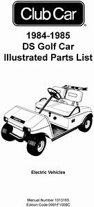 1984 - 1985 Club Car - Ds  Electric  - Parts List