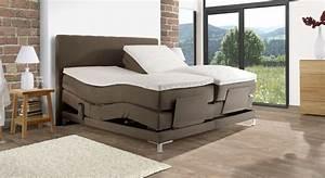 Elektrisch Verstellbares Bett : elektrisch verstellbares boxspringbett bis 120 kg denton ~ Whattoseeinmadrid.com Haus und Dekorationen
