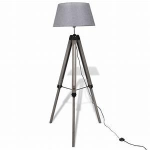 Trépied En Bois : la boutique en ligne lampadaire tr pied en bois r glable avec abat jour en tissu gris ~ Teatrodelosmanantiales.com Idées de Décoration