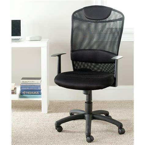 safavieh shane black office chair fox8504a the home depot