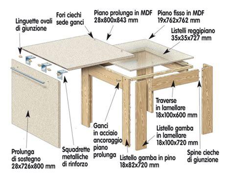 costruzione di un tavolo in legno come costruire un tavolo estensibile bricoportale fai