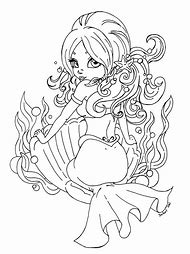 Pin Up Mermaid Coloring Pages