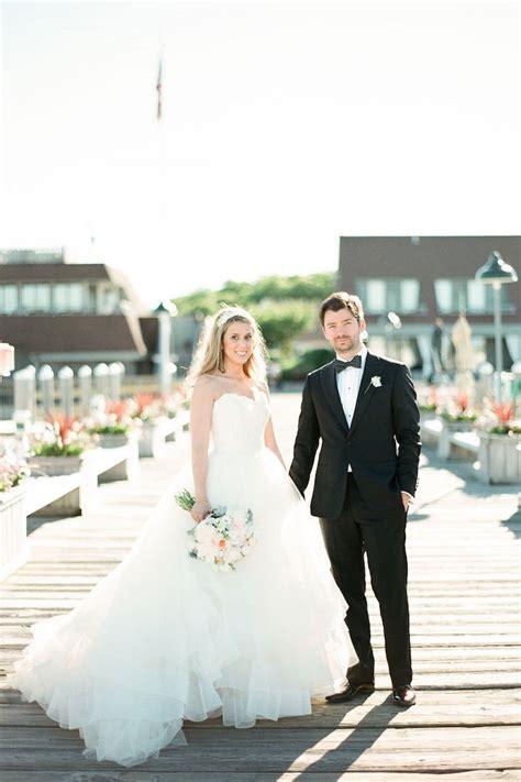 blush colored montauk  york wedding modwedding