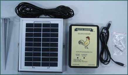 solar chicken door solar kit for automatic chicken coop door bih00006