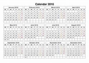 2016 Printable Calendar With European Holidays