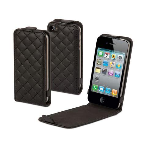 muvit housse slim noir 224 clapet glossy matelasse pour iphone 4 et 4s iphone 4 achat vente pas