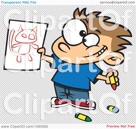 Boy Holding Cat Clip Art