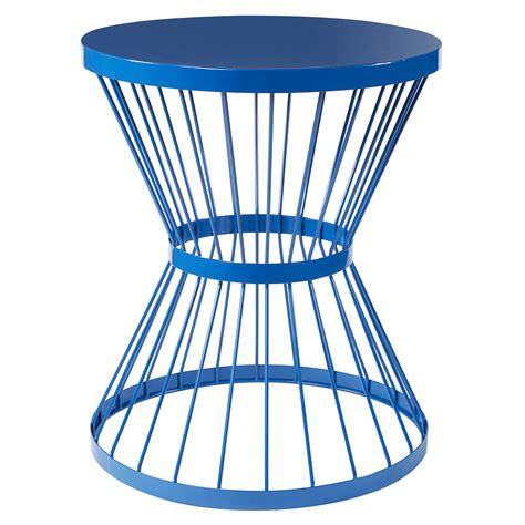 metal garden stool essential garden metal ribbed stool blue outdoor