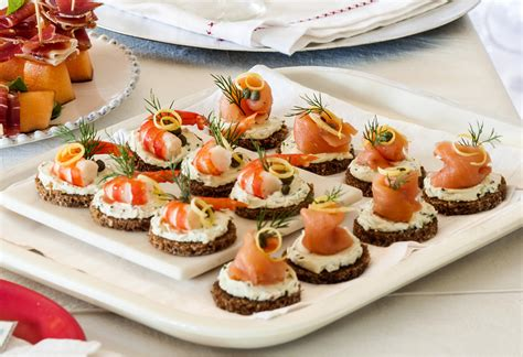 easy canape recipes nigella smoked salmon prawn canapés recipe foodiful