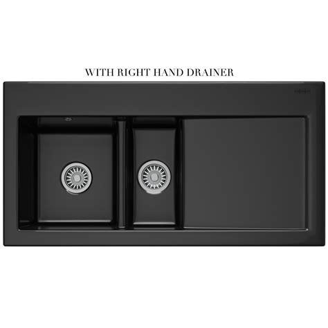 Franke Mythos MTK 651 Ceramic Black 1.5 Bowl Inset Sink