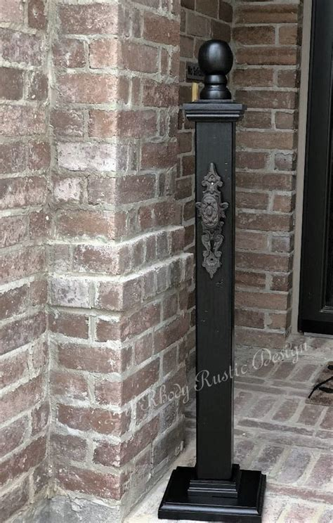 Decorative L Posts - farmhouse decorative welcome porch post with sign
