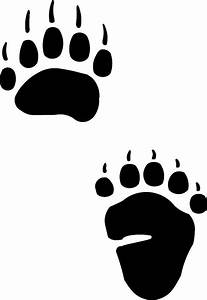bear tracks and grass tattoo native american bear paw With bear footprints template