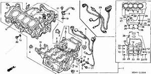 Honda Motorcycle 2001 Oem Parts Diagram For Crankcase