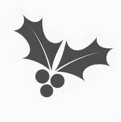 Holly Leaf Silhouette Clip Art