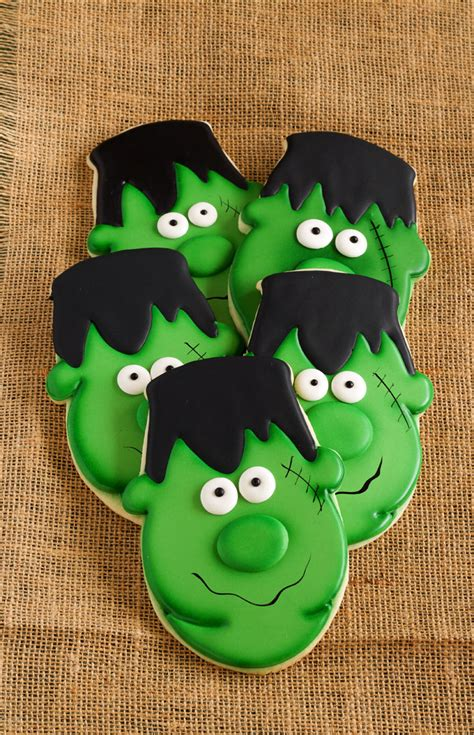 easy frankenstein cookies  bearfoot baker