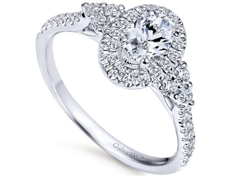 gabriel co oval engagement ring murphy jewelers
