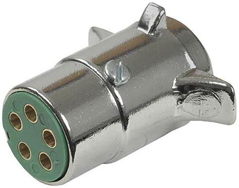 Pollak Pole Round Pin Trailer Wiring Connector Chrome