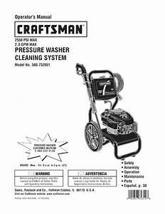Craftsman 580752051 User Manual Pressure Washer Manuals