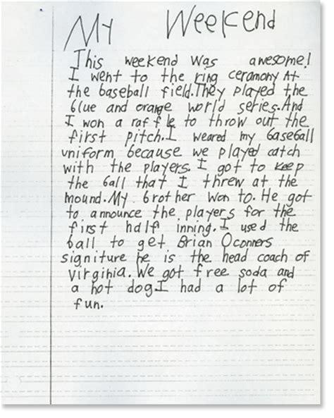 Second Grade Writing Sample 5  Reading Rockets