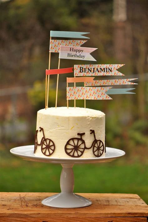 bicycle cake ideas  pinterest bike cakes