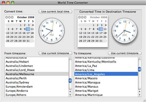 worldtimeconverter timezones cocoa