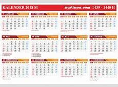 Download Gratis Kalender 2018 VEKTOR Lengkap tanggal
