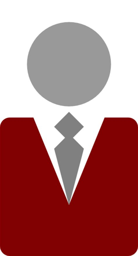 red suit tie clip art  clkercom vector clip art