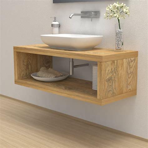 bathroom solid wood wash basin shelf  storage compartment