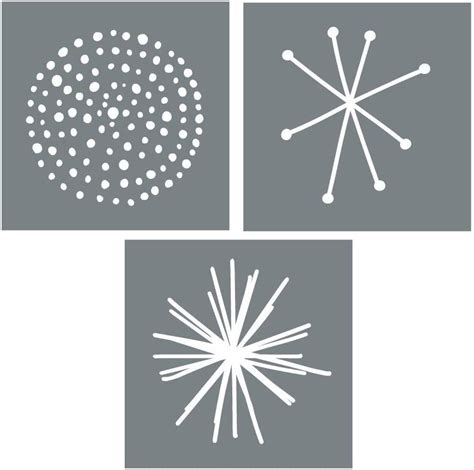 This piece of wall decor is just over a foot wide so it won't be too. Large Starburst Wall Stencil Set - Set of 3 Reusable Stencils for Walls or Furniture - Easy DIY ...