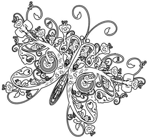 HD wallpapers coloring pages to print of butterflies