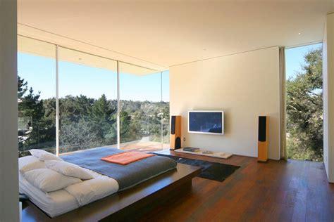 glass bedroom bedroom glass walls modern residence in beverly hills