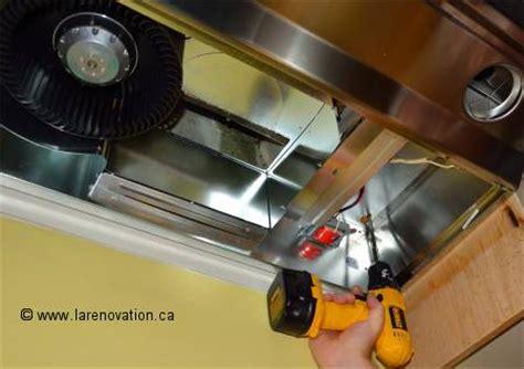 branchement electrique hotte de cuisine installer une hotte de cuisine