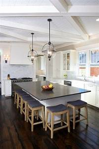 Criss Cross Wood Beams - Transitional - Kitchen