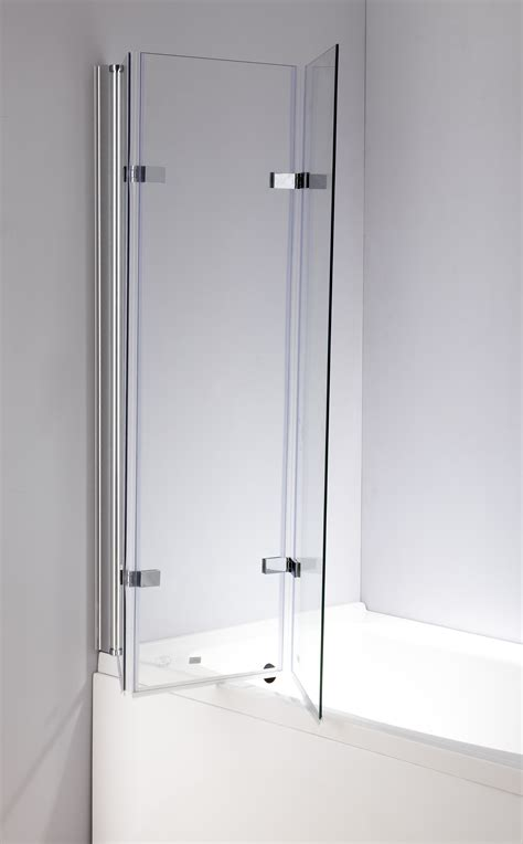 foldable shower 3 fold chrome folding bath shower screen door panel 1300mm x 1400mm
