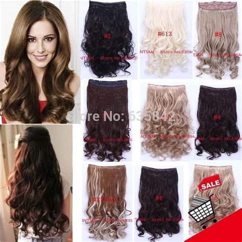 Curly Wavy Synthetic Clip In Hair Extensions 24inches 60cm