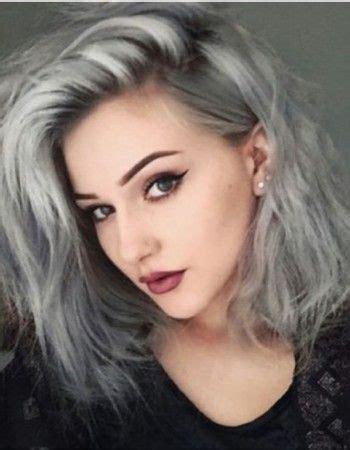 Couleur Gris Cheveux Tendance Couleur Les Cheveux Gris Cheveux G R I S Dyed Hair Hair Styles Et Grey Hair