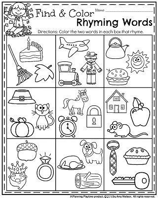 fall kindergarten worksheets for november teaching