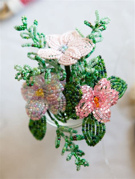 hanging bouquet beaded flowers all sparkled up